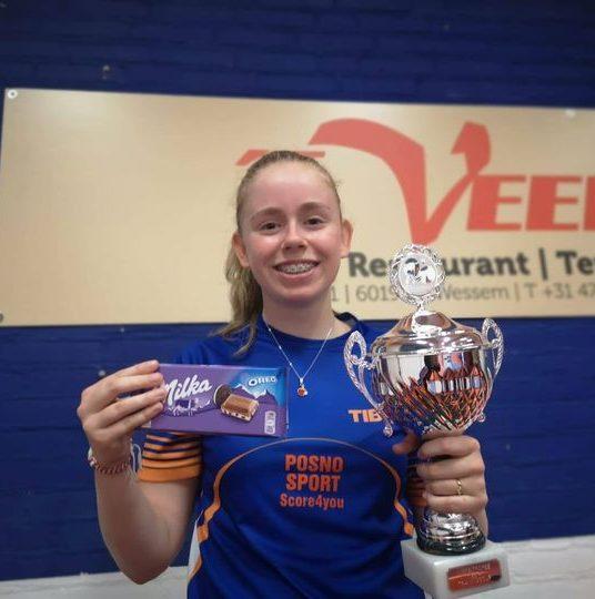 Dido Giesen wint de eerste editie trainingscup