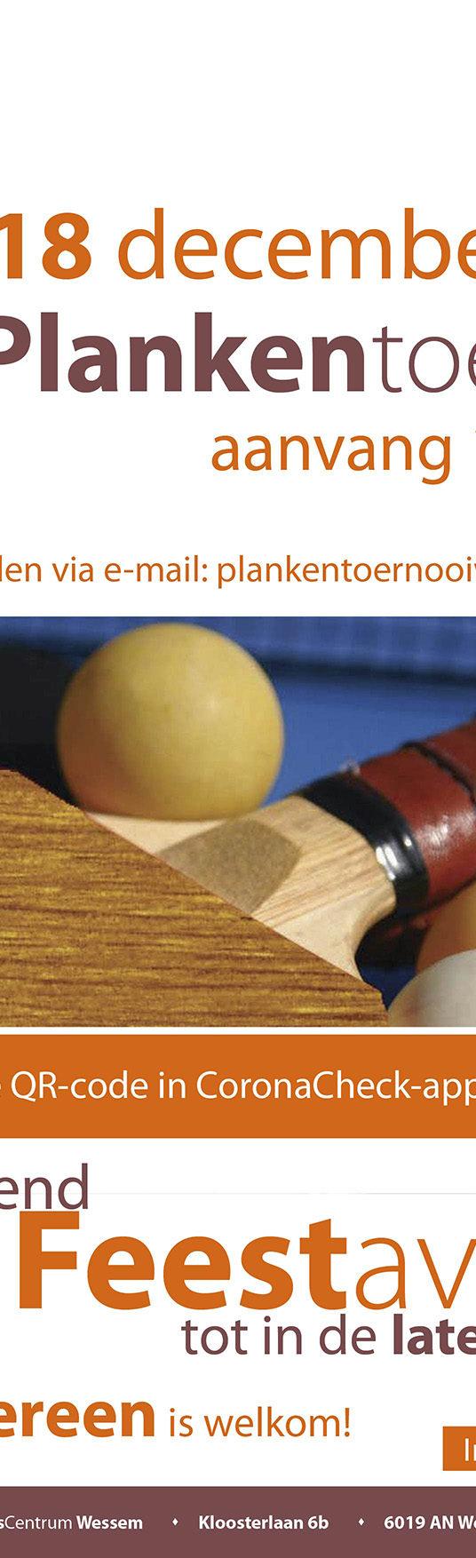 Plankentoernooi 2021. Save the date!
